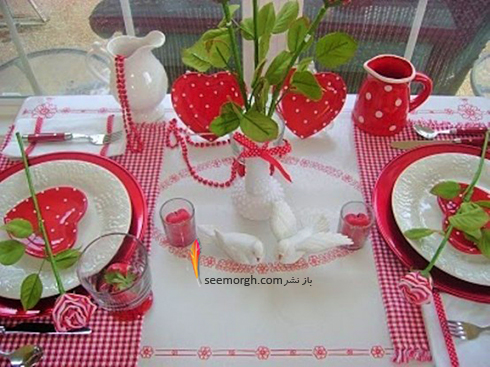 چیدن میز شام رمانتیک برای ولنتاین - ایده شماره 7