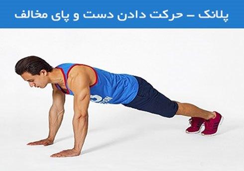 پلانک - حرکت دادن دست و پای مخالف