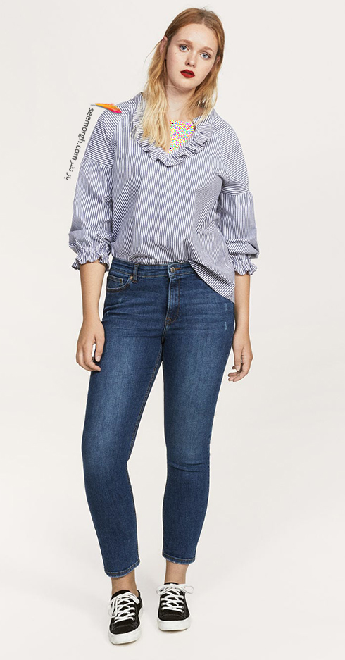 شلوار جین زنانه منگو برای خانم های سایز بزرگ - عکس شماره 4