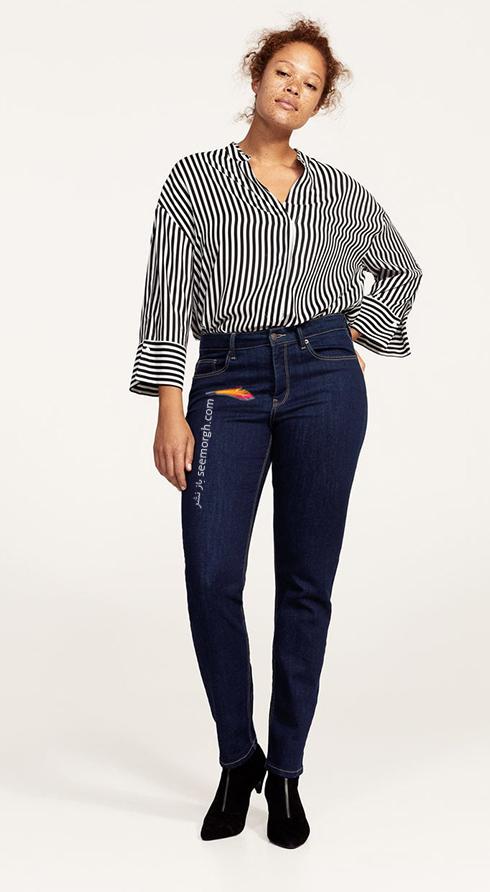 شلوار جین زنانه منگو برای خانم های سایز بزرگ - عکس شماره 9
