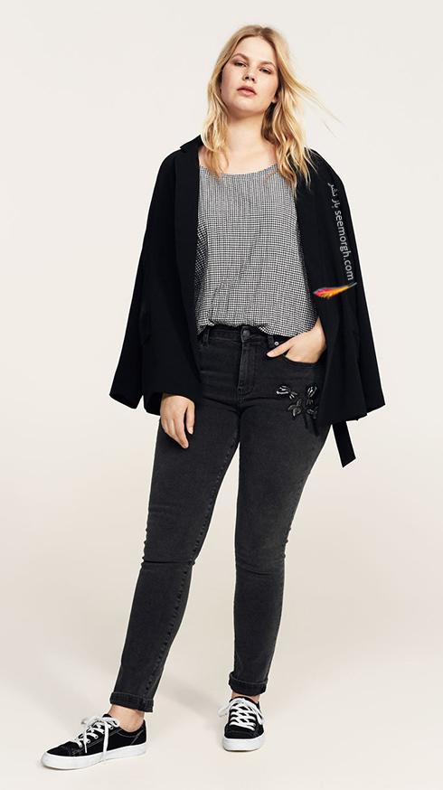 شلوار جین زنانه منگو برای خانم های سایز بزرگ - عکس شماره 5