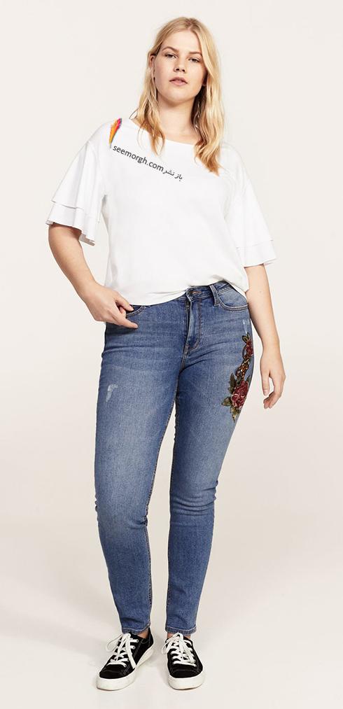 شلوار جین زنانه منگو برای خانم های سایز بزرگ - عکس شماره 7