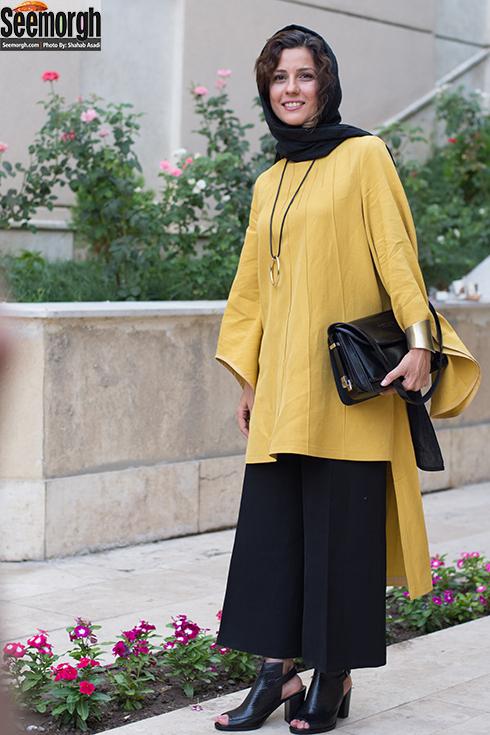 مدل مانتو سارا بهرامی در جشن منتقدان سینما