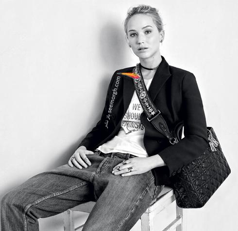 جنیفر لارنس Jennifer Lawrence در تبلیغ کیف برند دیور Dior - عکس شماره 1