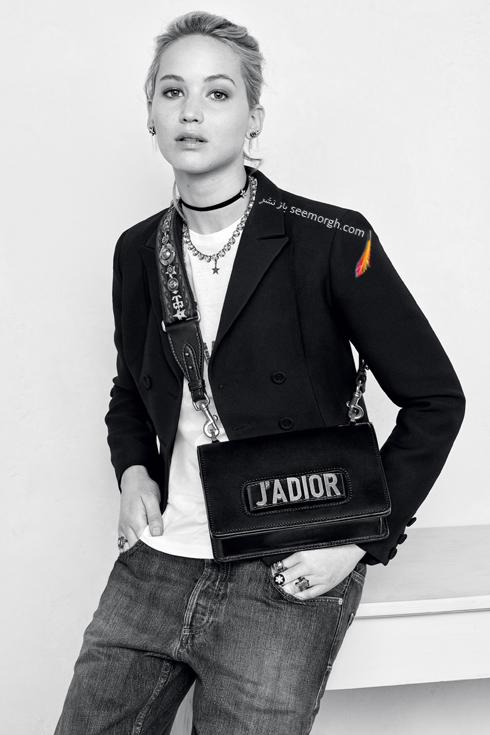 جنیفر لارنس Jennifer Lawrence در تبلیغ کیف برند دیور Dior - عکس شماره 2