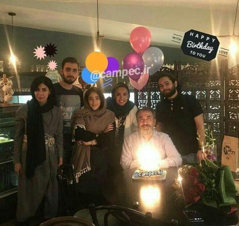 تولد سیامک انصاری به همراه همسرش