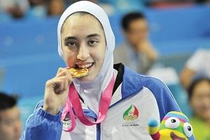 عکس دختر ایرانی دختر ایرانی تکواندو بانوان بیوگرای کیمیا علیزاده اخبار تکواندو