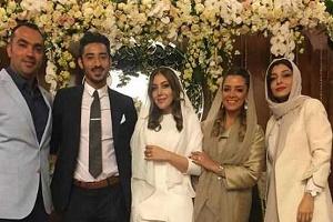 حلقه گذاشتن قوچان نژاد در دست همسرش + عکس