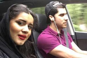 سیزده بدر شهرام محمودی و همسرش + عکس