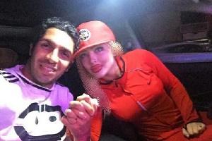 تیپ همسر سپهر حیدری در آکادمی فوتبال قرمزپوشان سپهر+ عکس