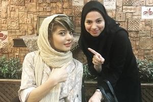 دختر ملی پوش در کنار مهران مدیری + عکس