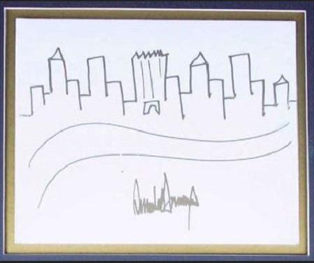 نقاشی کودکانه ترامپ