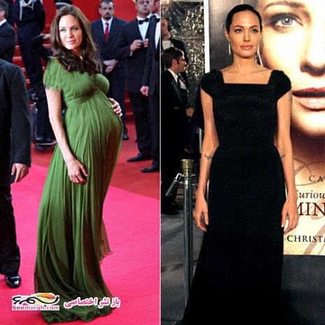 زمان مصرف لیدی میل در بارداری عکس های مشهورترین زنان هالیوودی در زمان بارداری و پس از آن!