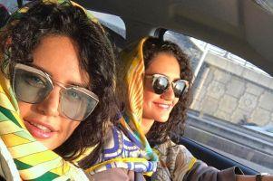سفر الناز شاکردوست و خواهرش به اسپانیا