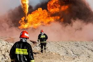 آتشسوزی در مجموعه 167 شرکت نفت گچساران