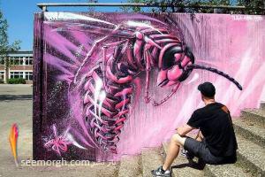 گزارش تصویری: هنرمند آلمانی که دیوارهای غمگین شهر را زیبا می سازد