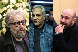 مهران مدیری، محسن تنابنده و هنرمندان مشهور در مجلس ترحیم خشایار الوند + عکس
