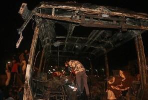 نفتکشی که با اتوبوس مسافربری برخورد کرد عراقی بود