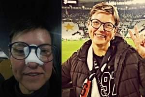 هدیه رونالدو به زنی که با شوتش بینی او را شکست! عکس