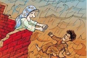 کارتون روز: مقابله امدادگران بی ادعا با سیل