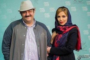 مهران غفوریان و دخترش هانا در کنار عموپورنگ