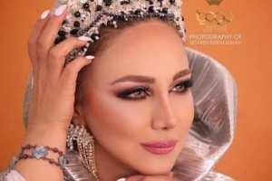 چهره متفاوت بهنوش بختیاری به عنوان مدل آرایش عروس! عکس