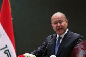 برهم صالح استعفا کرد