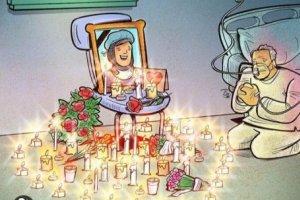 کارتون روز: فرشتگانی که بخاطر کرونا از میان ما رفتند
