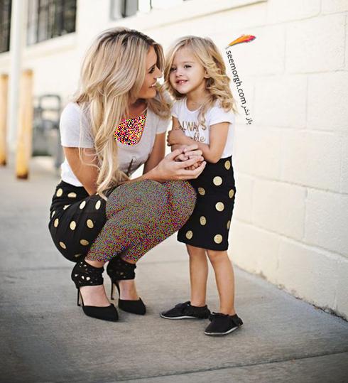 ست کردن لباس مادر و دختر - ست شماره 1