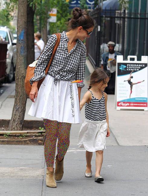ست کردن لباس مادر و دختر - ست شماره 2