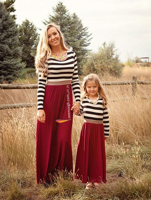 ست کردن لباس مادر و دختر - ست شماره 5