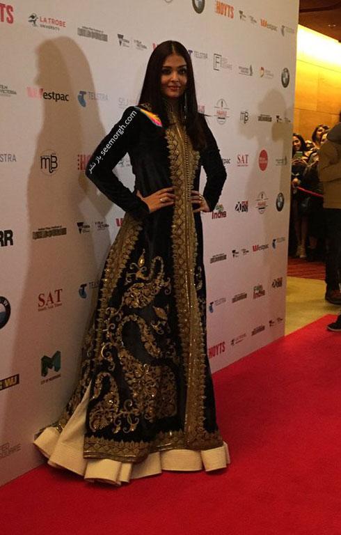 مدل لباس آیشواریا رای aishwarya rai در مراسم iffm 2017 در ملبورن - ع شماره 8