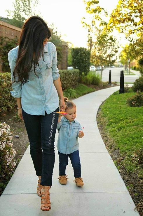 ست کردن لباس مادر و دختر - ست شماره 4