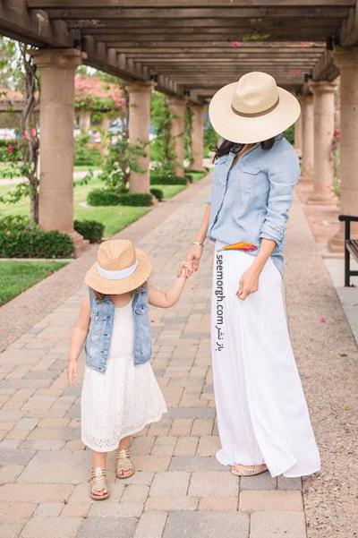 ست کردن لباس مادر و دختر - ست شماره 8