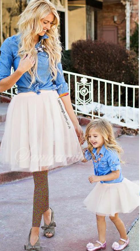 ست کردن لباس مادر و دختر - ست شماره 12
