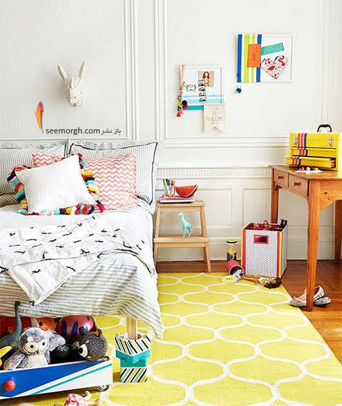 برای دکوراسیون اتاق خواب کوچک از رنگ های روشن استفاده کنید