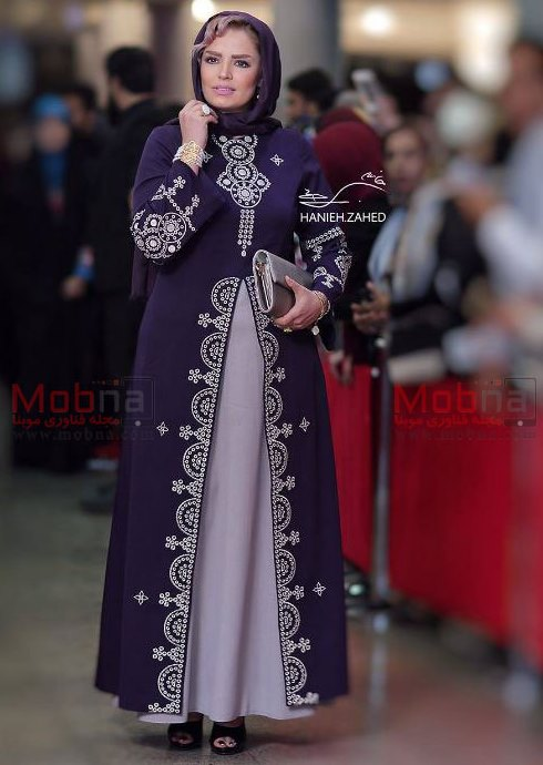 مدل مانتو سپیده خداوردی در جشن حافظ 96
