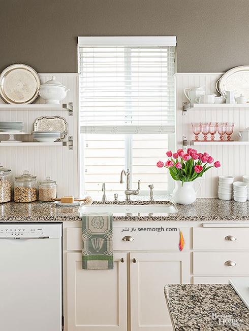 برای مرتب کردن آشپزخانه شلف های دیواری را فراموش نکنید