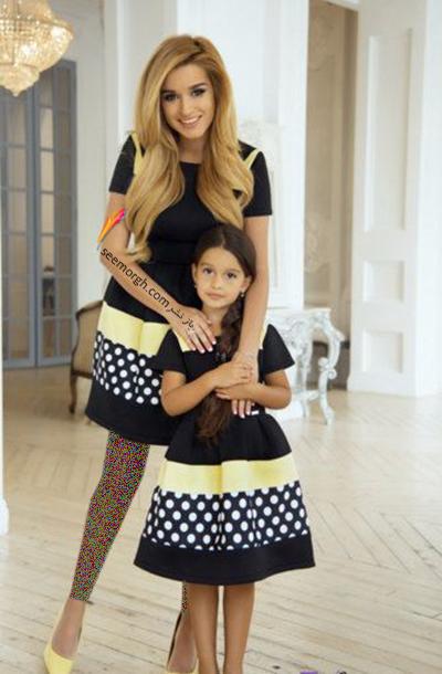 ست کردن لباس مادر و دختر - ست شماره 11