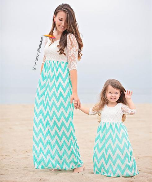 ست کردن لباس مادر و دختر - ست شماره 6
