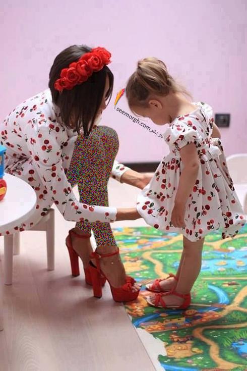 ست کردن لباس مادر و دختر - ست شماره 3