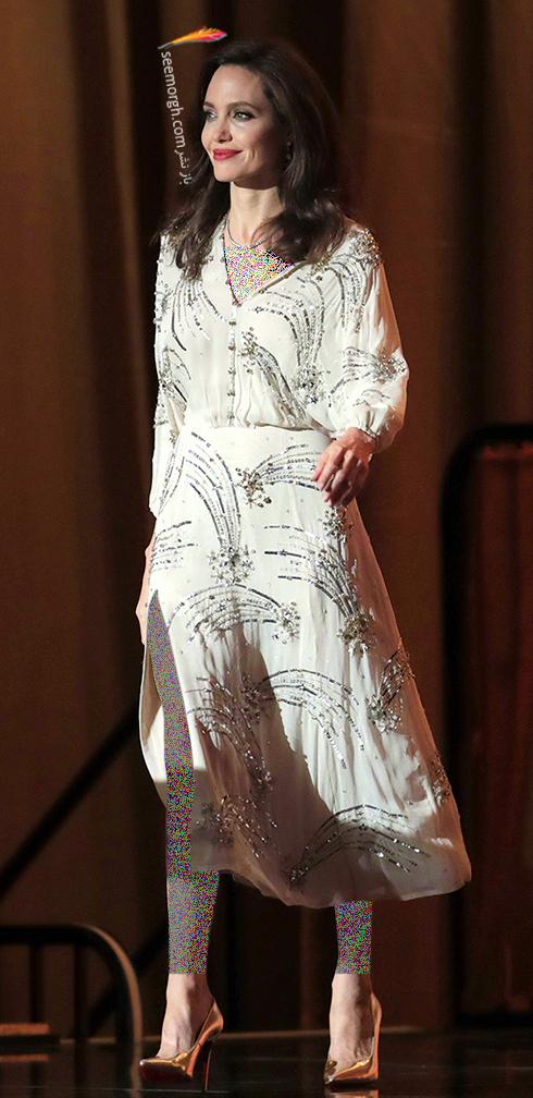 مدل لباس آنجلینا جولی Anjelina Jolie در مراسم Governors Awards 2017 - عکس شماره 1