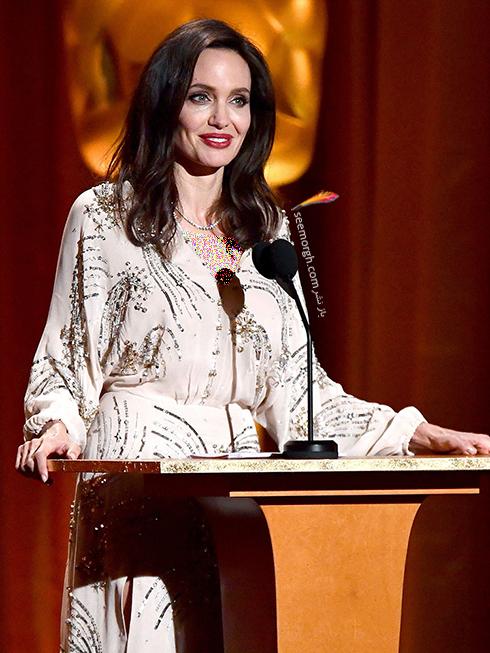 مدل لباس آنجلینا جولی Anjelina Jolie در مراسم Governors Awards 2017 - عکس شماره 3