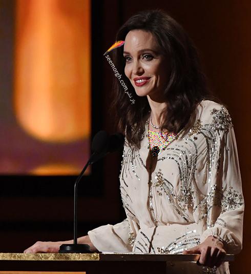مدل لباس آنجلینا جولی Anjelina Jolie در مراسم Governors Awards 2017 - عکس شماره 4
