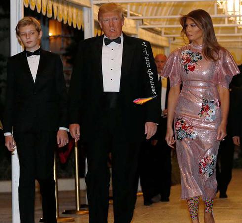 مدل لباس ملانیا ترامپ Melania Trump در جشن سال نو میلادی 2018 - عکس شماره 3