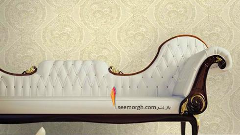 ست کردن کاغذ دیوای با مبلمان شزلون قهوه ای طلایی - عکس شماره 10