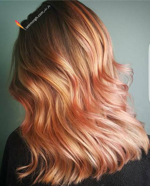 رنگ مو بلوند رزگلد برای سال نو میلادی - عکس شماره 6