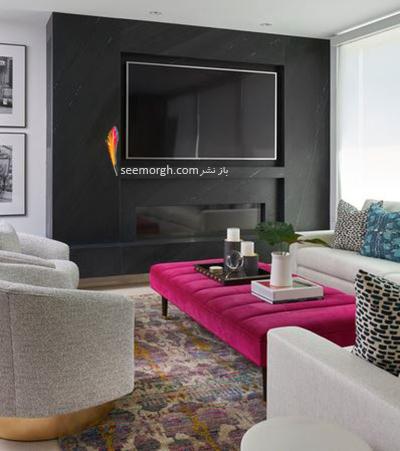 پنهان کردن تلویزیون مشکی با دیوار مشکی
