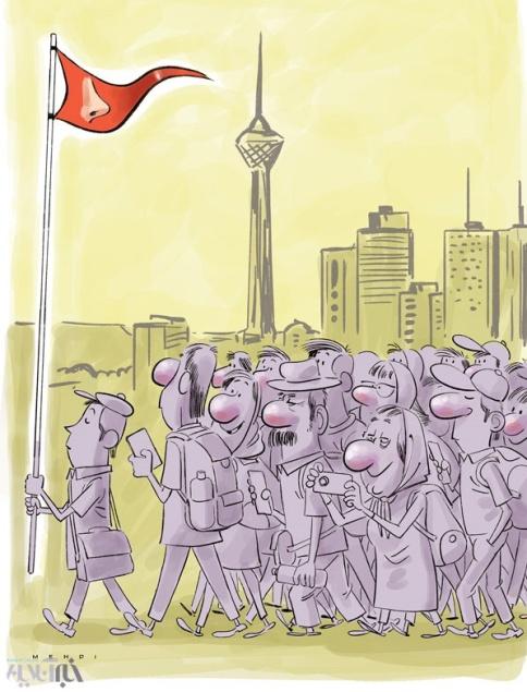 کاریکاتور: تهران پایتخت جراحی بینی جهان شد