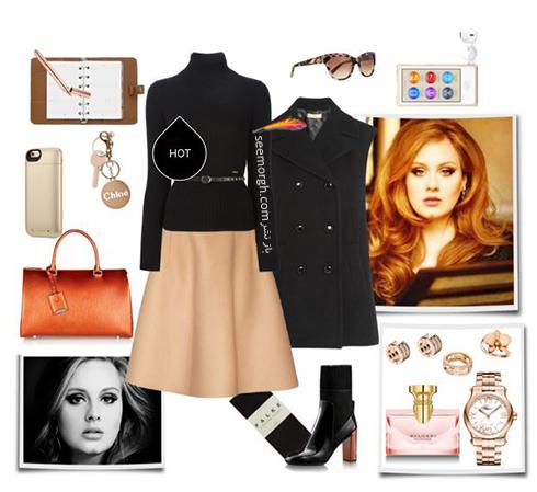 ست کردن لباس زمستاني به سبک ادل Adele - عکس شماره 1